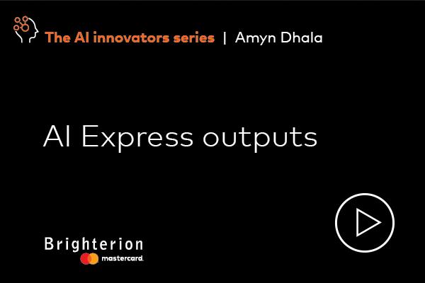 AI Express outputs